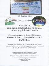 8 edizione della marcia della pace, organizzata dal'Istituto comprensivo Nivola